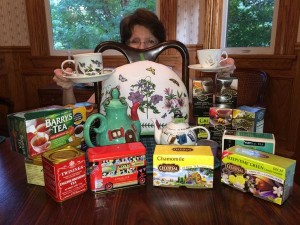 Author Kathy Erskine is more than ready for tea.